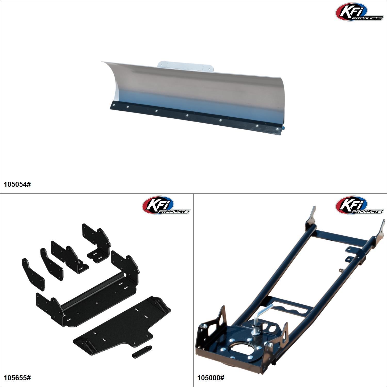 "KFIProducts - ATV Plow kit - 54"", Textron Off Road Wildcat Trail 700 2018 Black / Silver  #KK00002331_2"