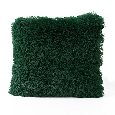 Popeven Faux Fur Pillow Cover Popeven Home Decorative Super Soft New Faux Sheepskin Pillow Cover