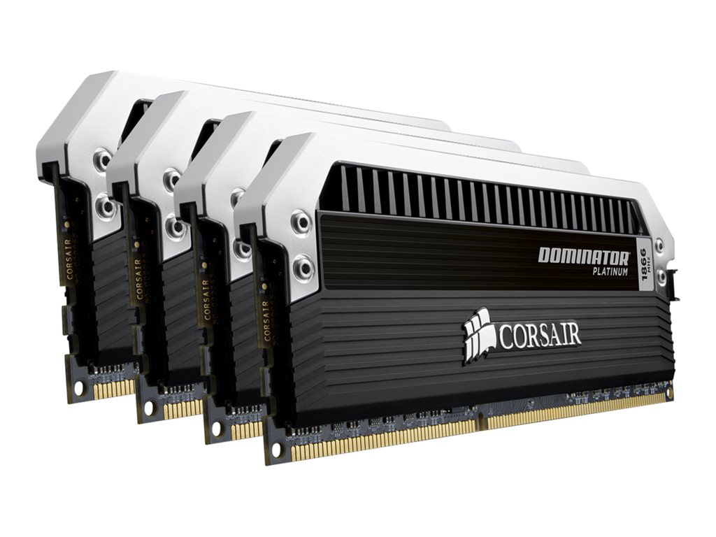 Corsair Dominator Platinum - DDR3 - 32 GB : 4 x 8 GB - DIMM 240-pin - 1866 MHz / PC3-15000 - CL10 - 1.5 V - unbuffered - non-ECC