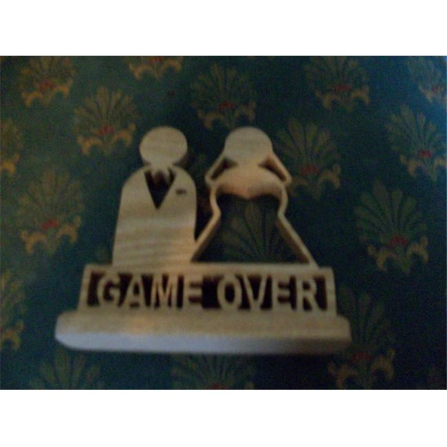Fine Crafts 1024HUM Wooden Game Over Display Sign