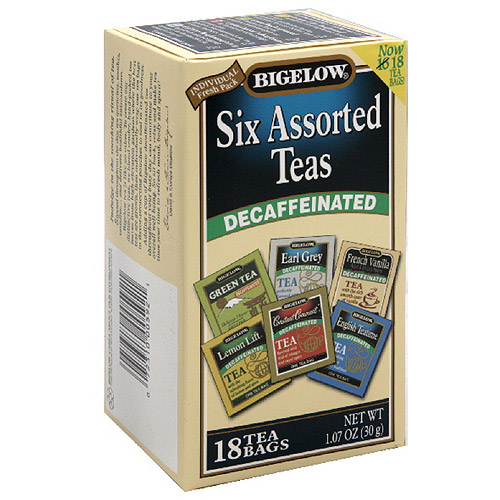 Bigelow Assorted Decaffeinated Tea, 1.07 oz, 18ct (Pack of 6)
