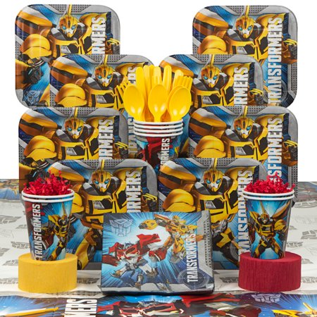 transformers birthday party deluxe tableware kit serves 8 - Transformers Birthday