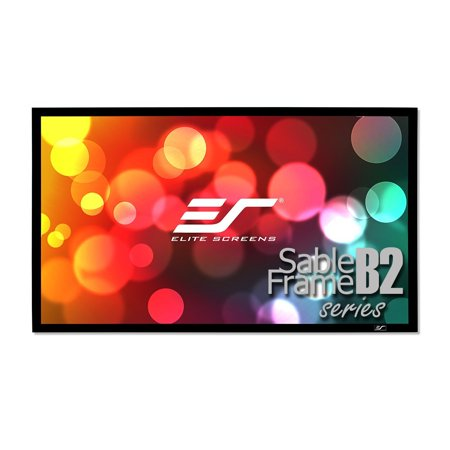 Elite Screens Sable Frame B2, 135-inch 16:9, Active 3D / 4K Ultra HD Fixed Frame Home Theater Projection Projector Screen Kit, SB135WH2