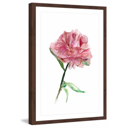 Marmont Hill    Rose Colored Peony  By Michelle Dujardin Framed Painting Print