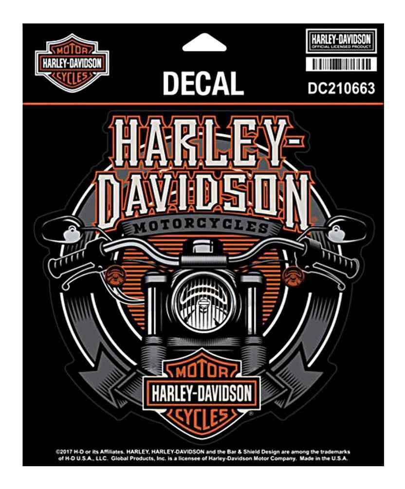 Harley-Davidson Handlebars Ultra Decal, Chrome MD Size 6 x 5.875 in DC210663, Harley Davidson by Harley-Davidson