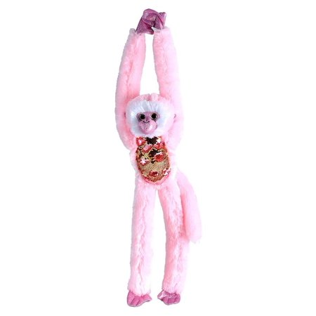 Wild Republic - Sequin Monkey - Color Changing Pink to Gold - 22