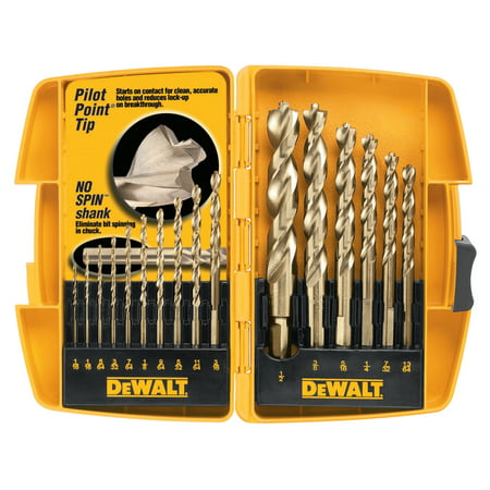 DeWalt Gold Ferrous Oxide Drill Bit Sets, 1/16