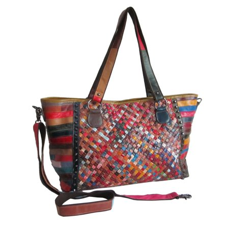 Amerileather Tote - Amerileather  Cecily Woven Tote Bag