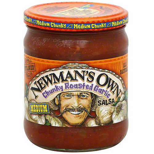 Newman's Own Roasted Garlic Salsa, 16 oz (Pack of 12)