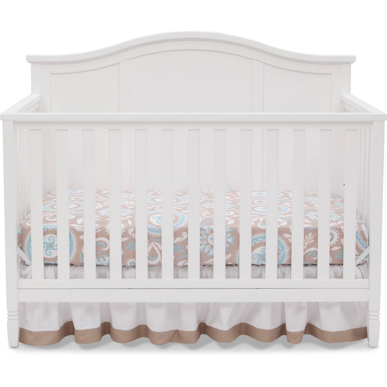 Delta Children Madrid 4-in-1 Convertible Crib, White