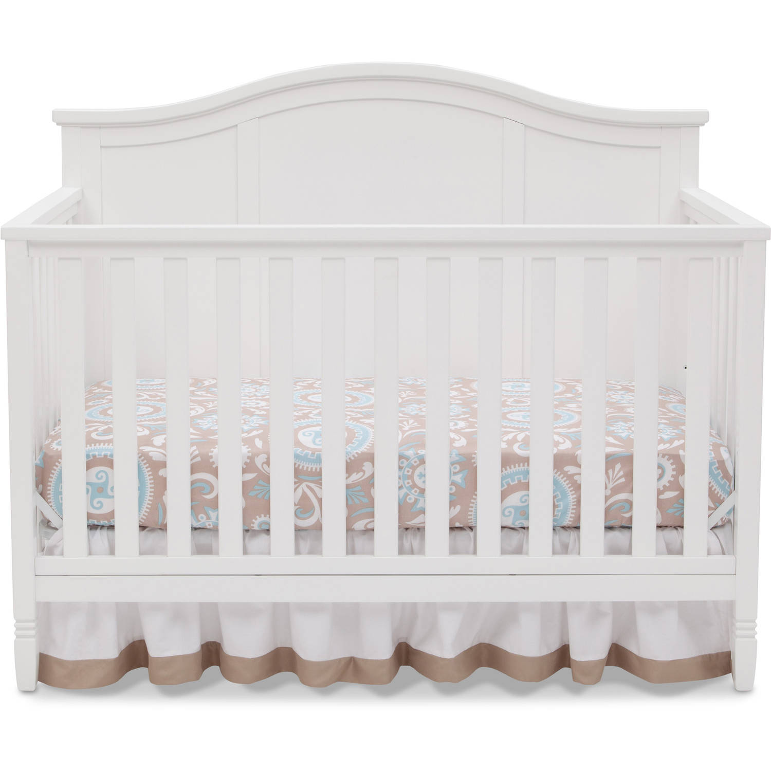 Delta Children Madrid 4-in-1 Convertible Crib, White