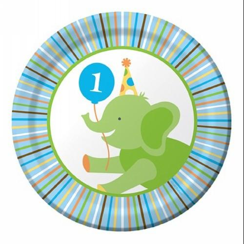 "Sweet At One - Boy 7"" Dessert Plates - 415100"