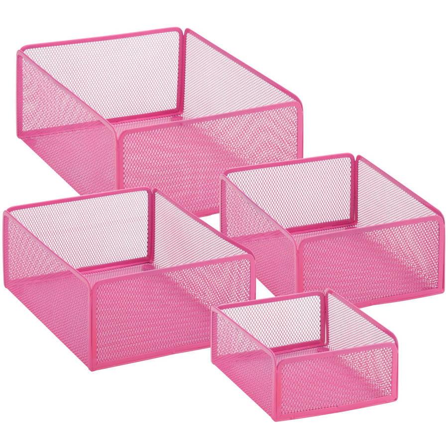 Honey-Can-Do Excessory Basket Set, Pink