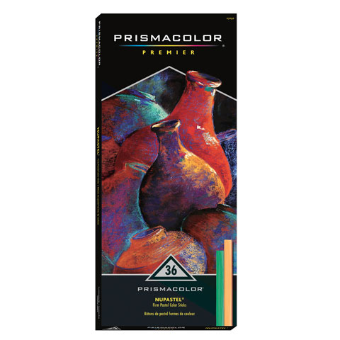 Prismacolor NuPastel Color Stick Set - 3-5/8 x 1/2 inch - 36 pieces