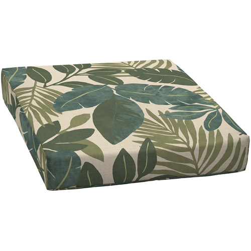 Deep Seat Floral Outdoor Seat Cushion, Chelsea Jade