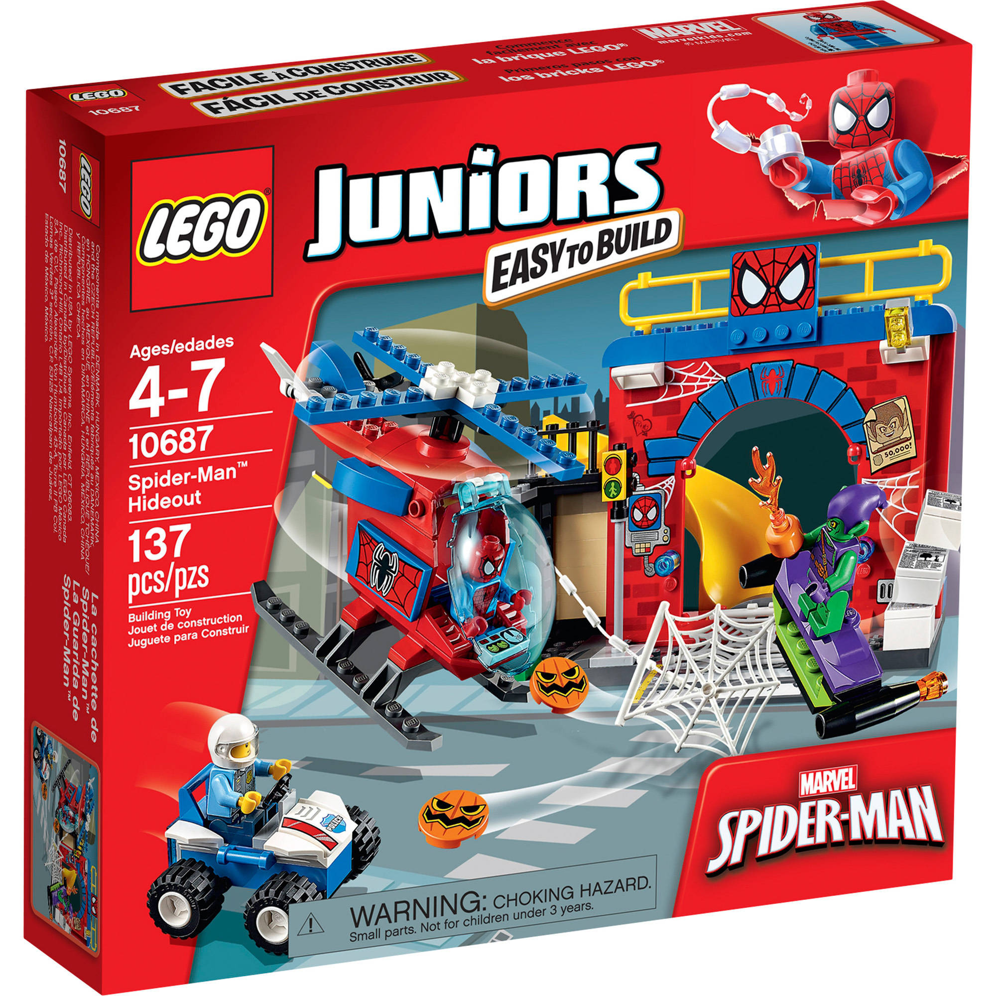 LEGO Juniors Spider-Man Hideout, 10687