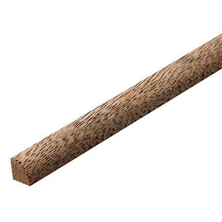 """Walnut - Quarter Round Real Hardwood Molding, 48"""" Length By Rockler Ship from US"""