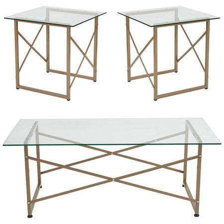Winston Porter Stagner 3 Piece Coffee Table Set