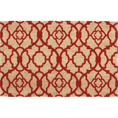"""Waverly Greetings """"Lovely Lattice"""" Red Doormat by Nourison"""