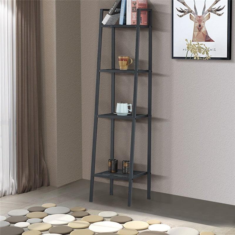 "Yosoo Black 4 Tier Ladder Shelf Unit Bookshelf Bookcase Book Storage Display Rack Stand,35*35*148cm/13.8*13.8*58.3"""
