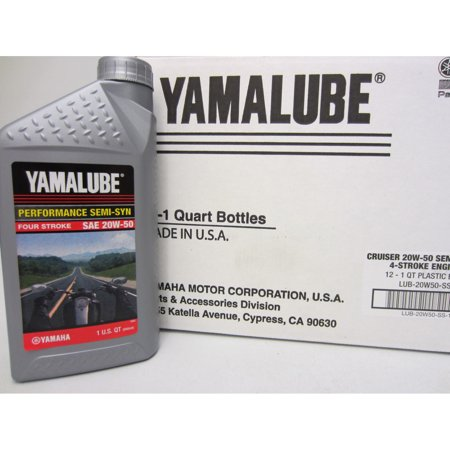 Yamaha Yamalube Semi Synthetic Motorcycle Engine Oil 32oz Quart