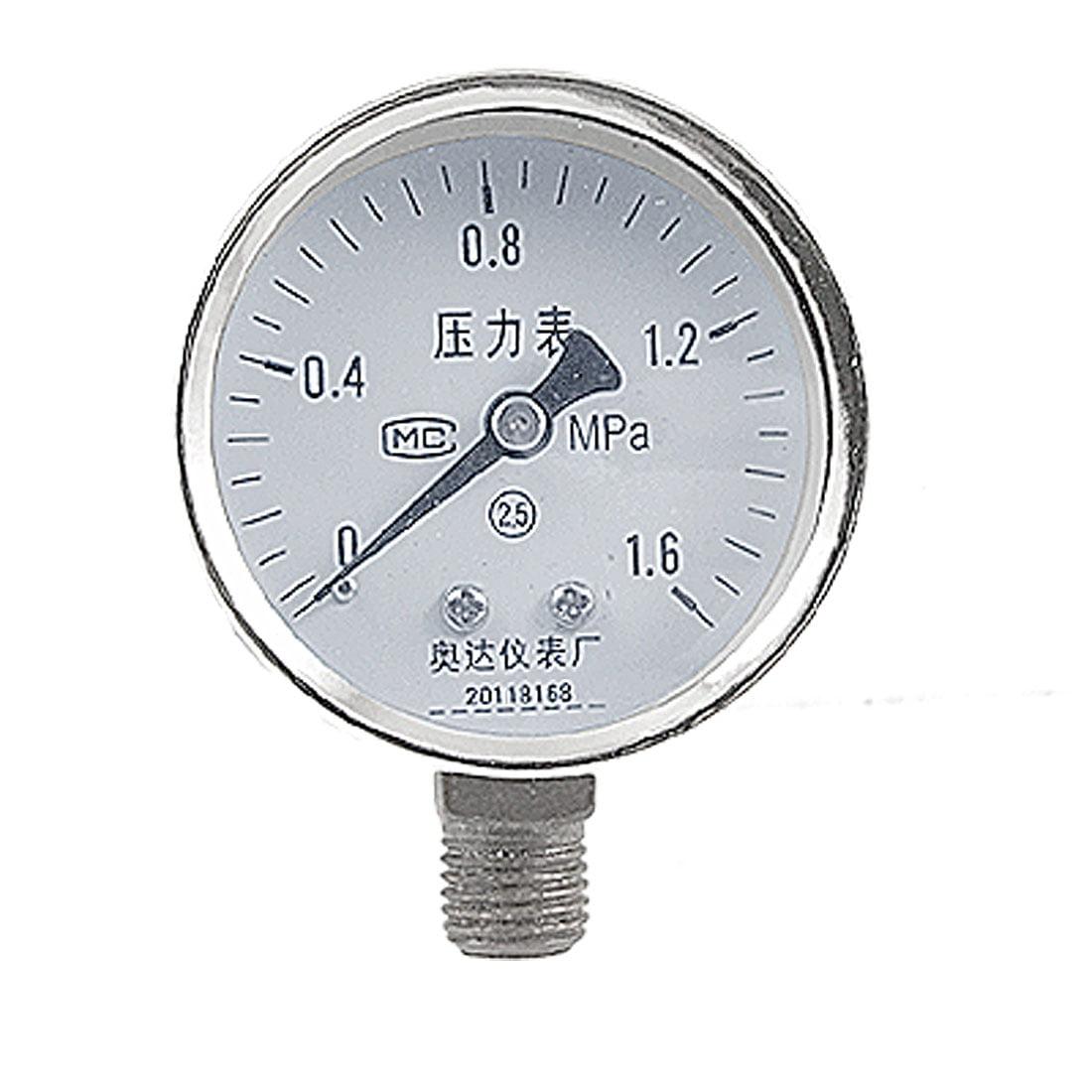 "0-1.6 MPa 17/32"" Male Thread Air Compressor Fittings Pressure Gauge"
