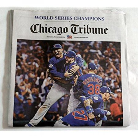Chicago Cubs Tribune Newspaper World Series Champions 11 3 16 At Last