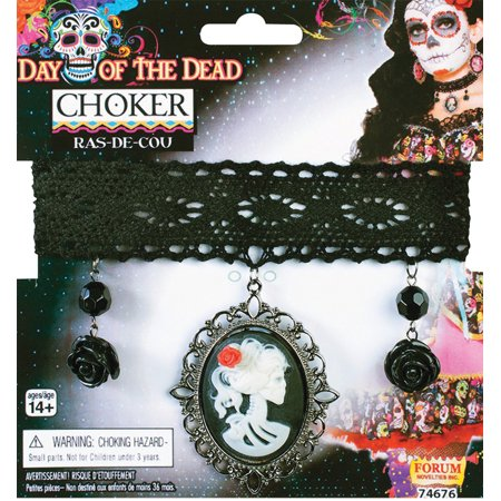 Morris Costumes Day Of Dead Choker