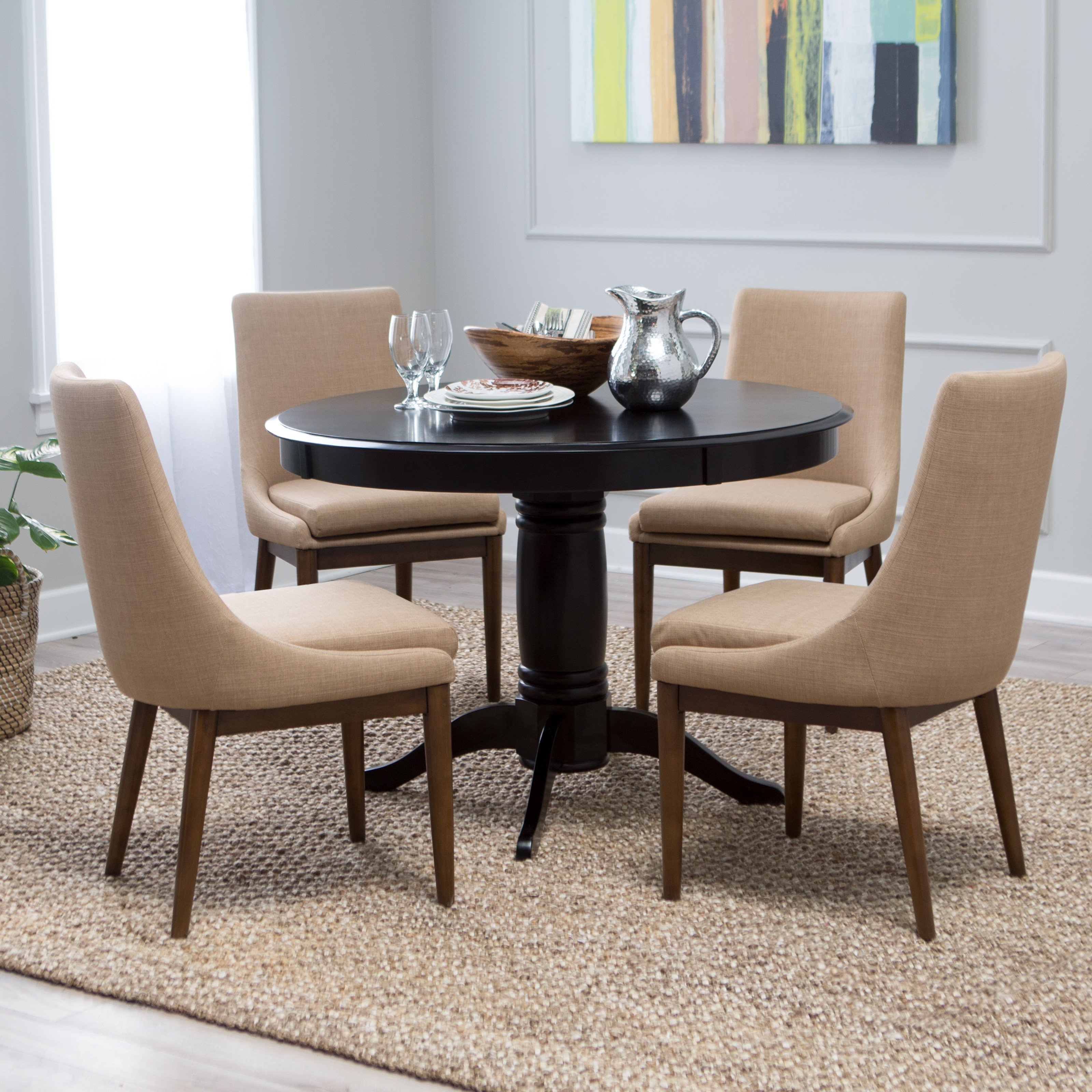 Belham Living Spencer Round Pedestal Dining Table Black by