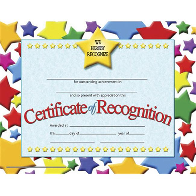 HAYES SCHOOL PUBLISHING H-VA637 CERTIFICATES OF RECOGNITION-36/PK 8-1/2 X 11 INKJET/LASER