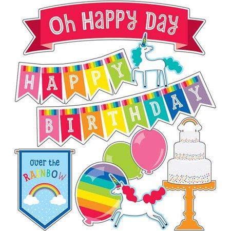 Carson Dellosa CD-110418 Hello Sunshine Birthday Mini Bulletin Board Set
