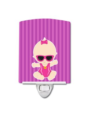 Beach Baby Girl Sunglasses Sarah Ceramic Night Light