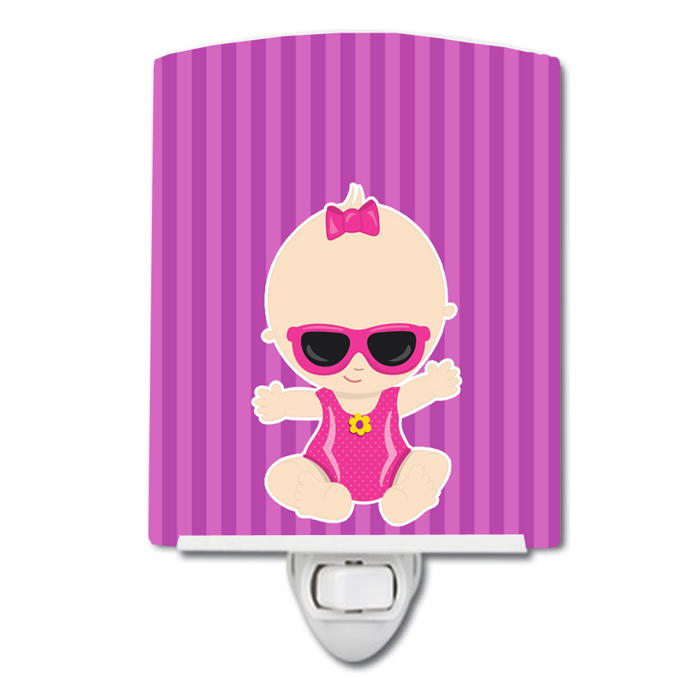 Beach Baby Girl Sunglasses Sarah Ceramic Night Light