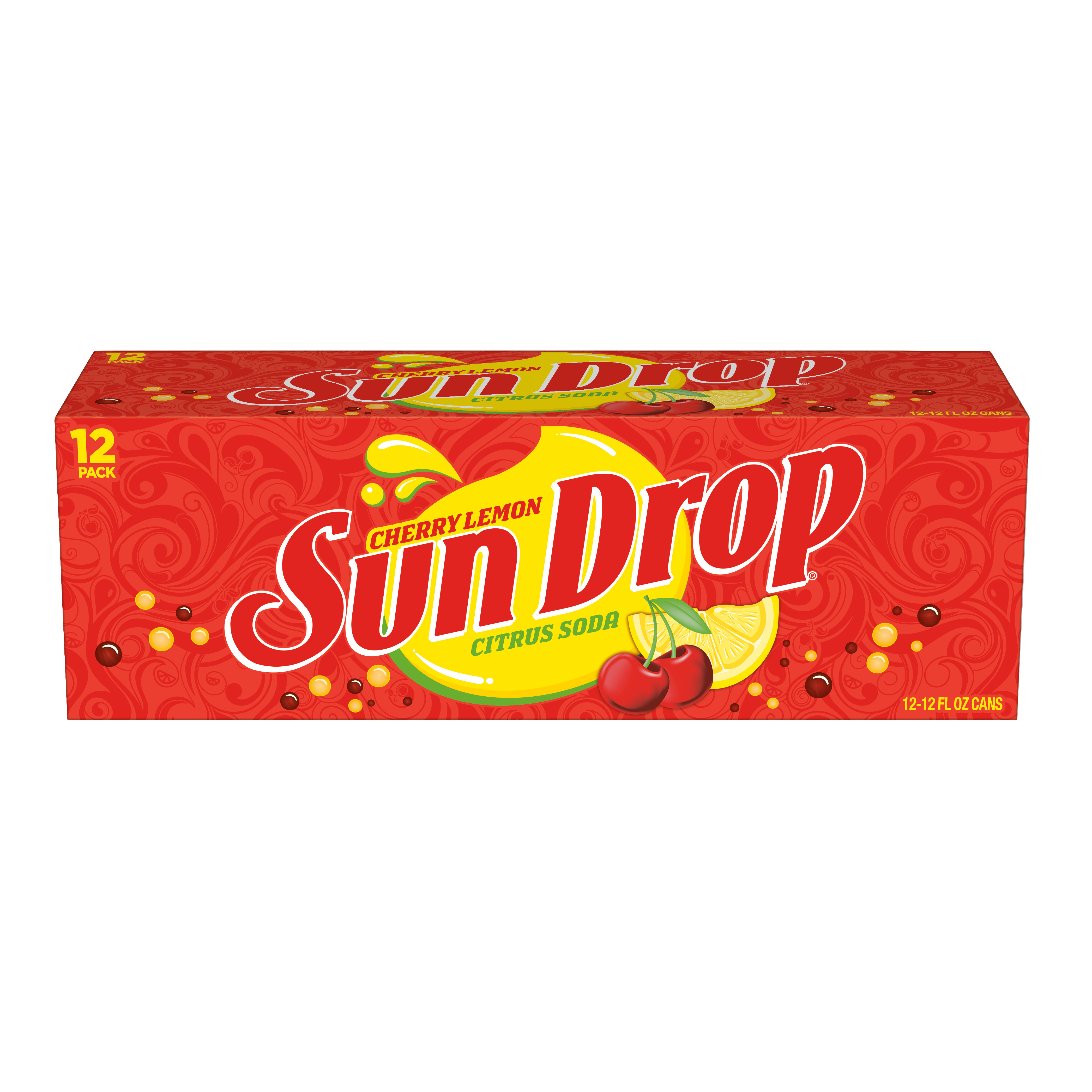 Sun Drop Cherry Lemon, 12 fl oz, 12 pack