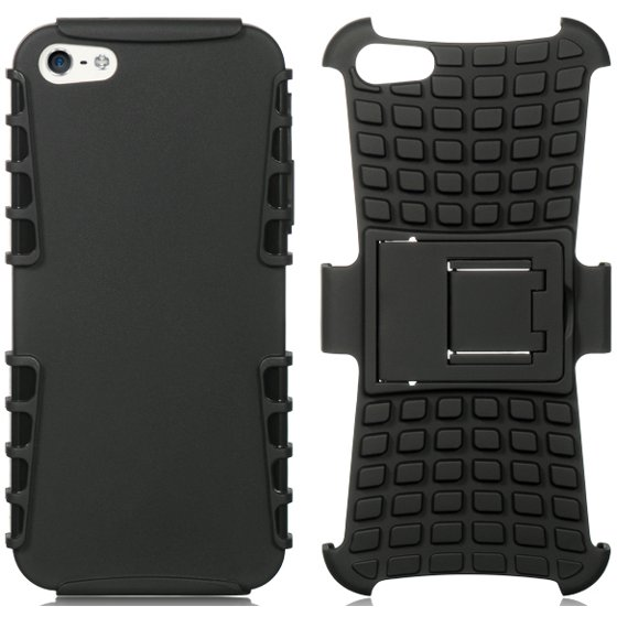 025033cba2 NAKEDCELLPHONE BLACK GRENADE GRIP RUGGED TPU SKIN HARD CASE COVER STAND FOR APPLE  iPHONE 5s 5 (AT&T, Sprint, Verizon, Tmobile, Cricket, Boost Mobile, ...