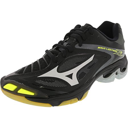 Mizuno Wave Lightning Z3 Volleyball Shoe - 7M - Black / Silver / Yellow - image 3 de 3