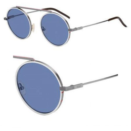 Sunglasses Fendi Men Ff M 25 /S 0MET Dark Rust White / KU blue avio lens