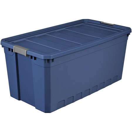 sterilite 50 gallon stacker tote blue eclipse. Black Bedroom Furniture Sets. Home Design Ideas