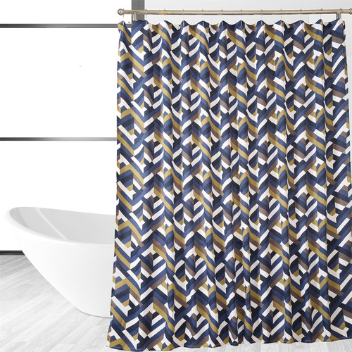 Image of Affluence Home Fashions Chevron Shower Curtain