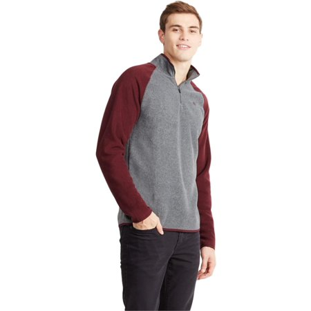 Aeropostale Mens Poly 1/4 Zip Fleece Jacket ()