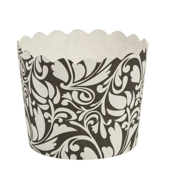 Simcha Collection Black Design Cupcake Wrappers Large/Case of 384