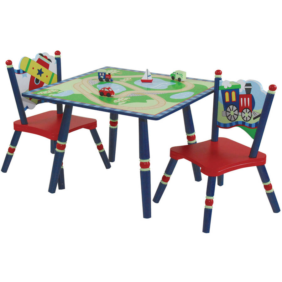 Wildkin Gettin' Around Table & 2 Chair Set