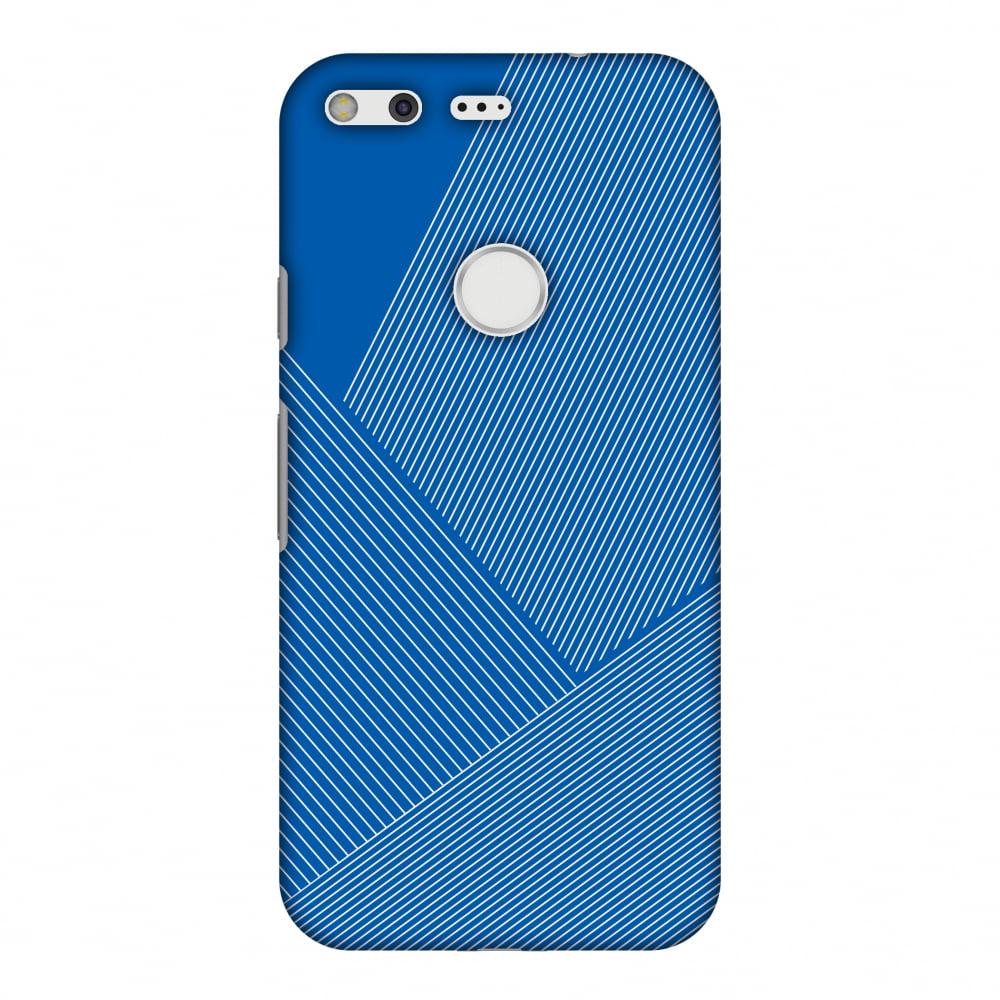 Google Pixel XL Case, Premium Handcrafted Printed Designer Hard Snap On Case Back Cover for Google Pixel XL - Carbon Fibre Redux Coral Blue 1