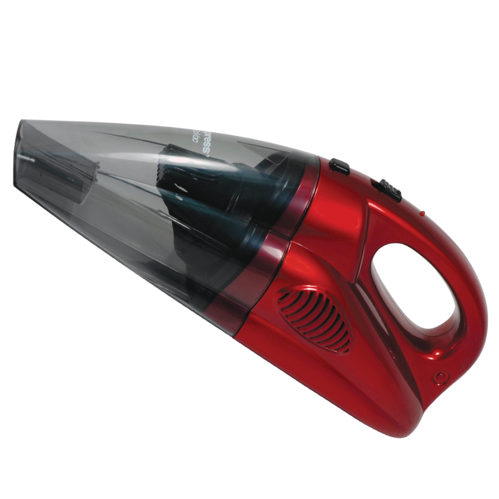 Impress GoVac Redchargeable Deluxe Handheld Vacuum with Base- Red