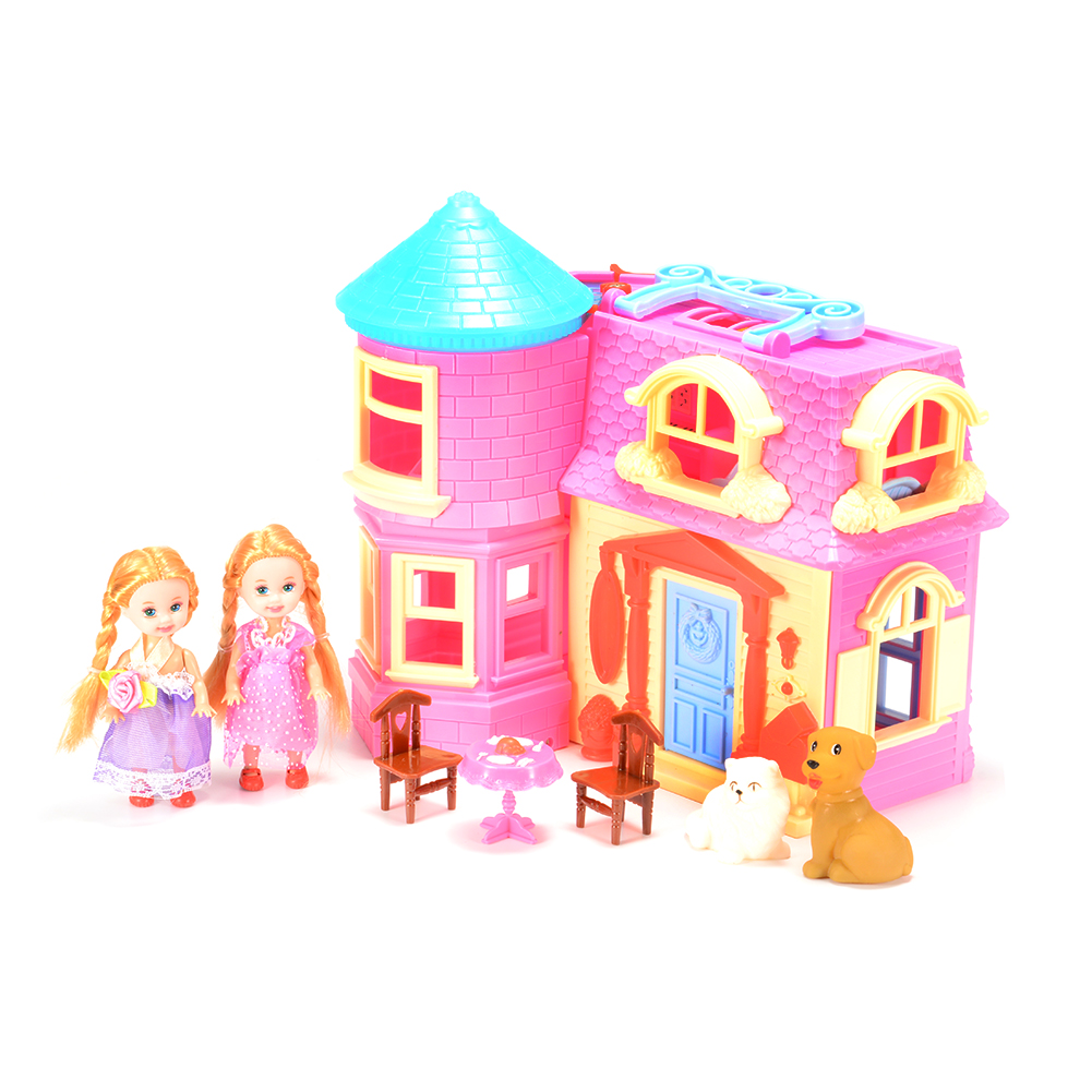 Princess Castle Doll Playset with Light and Music Princess Castle with Princess Figures, Castle, Animals and Furniture