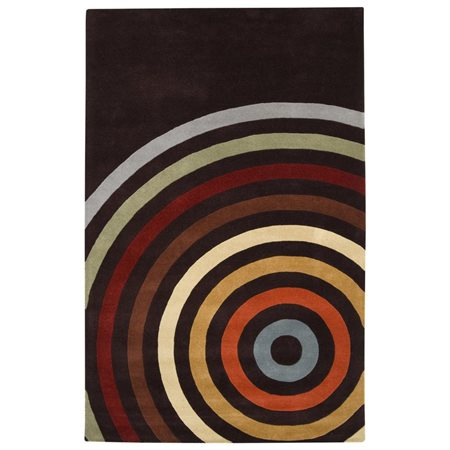Surya Forum Multi and Espresso Area Rug
