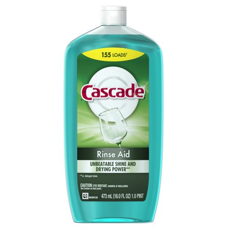 Cascade Rinse Aid, Dishwasher Rinse Agent, Original Scent, 16 Fl