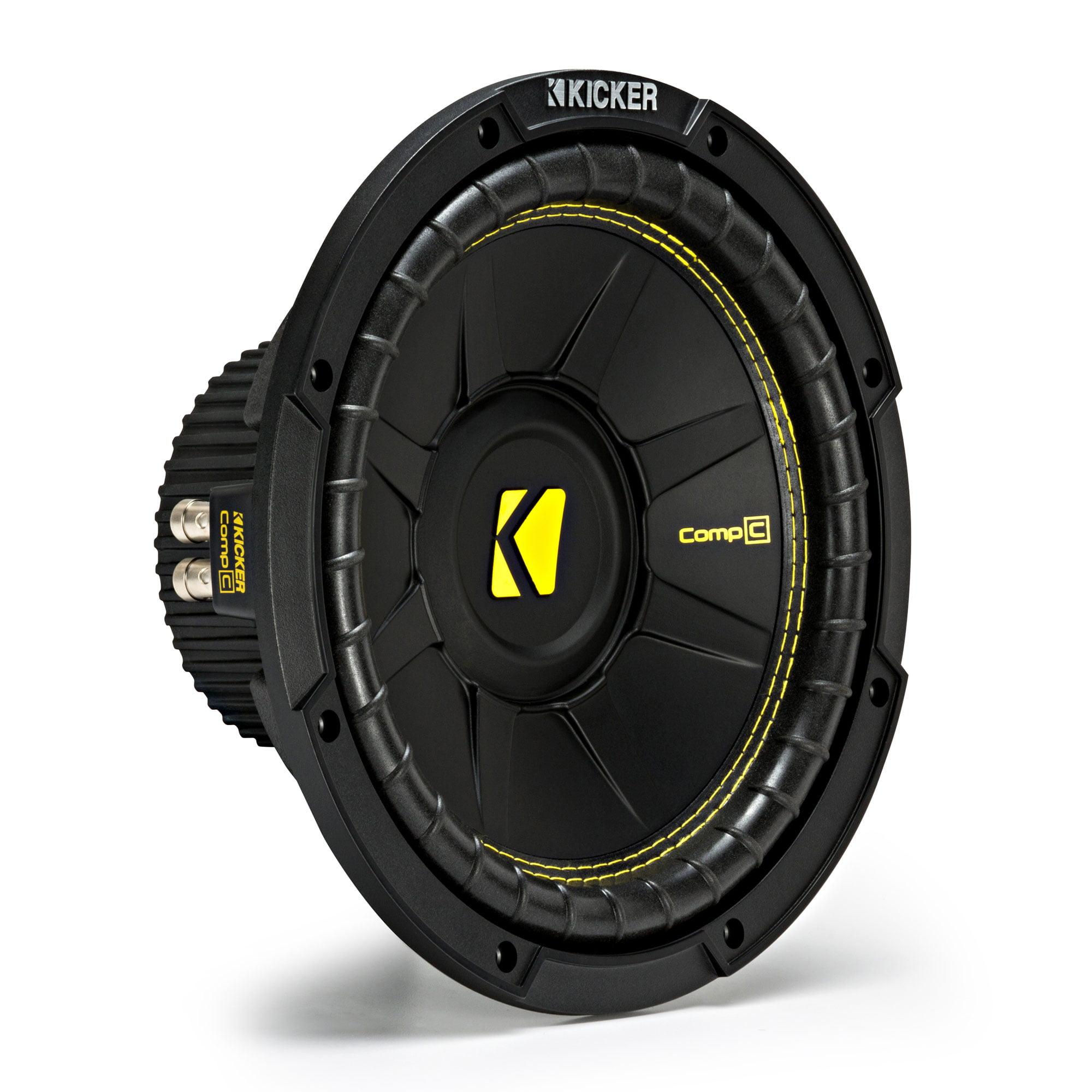 Kicker CompC Single 10 Inch 500 Watt Max Dual Voice Coil 4 Ohm Car ...