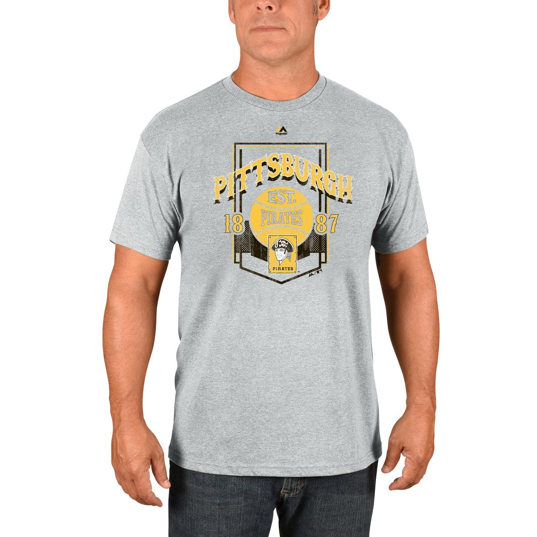 Pittsburgh Pirates Majestic Vintage Style T-Shirt - Gray