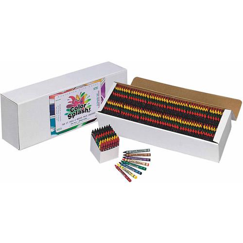 Color Splash! Crayons PlusPack, Box of 768